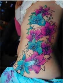 colorful tattoos for females feminine flower tattoos for
