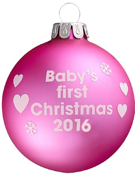 pink baubles next baby s 2016 pink tree bauble threelittlebears co uk