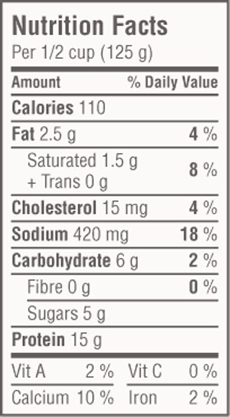 Nutritional Information For Cottage Cheese by Cottage Cheese Mcnab Distributing Ltd