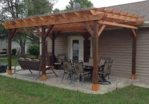 Wooden Pergola Designs by Covered Pergola Plans 12x24 Outside Patio Wood Design