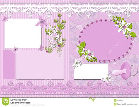 Vintage Memo Template Vintage Memo Scrapbook Elements Stock Illustration Image 53645073