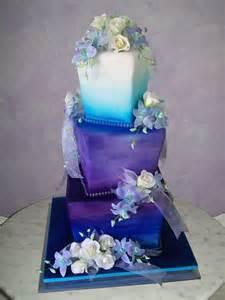 purple and blue wedding cake cakedreamingwithdiane