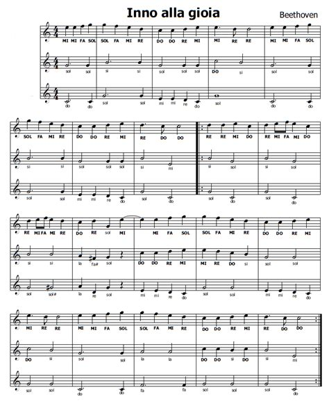 testo inno alla gioia italiano musica e spartiti gratis per flauto dolce inno alla gioia