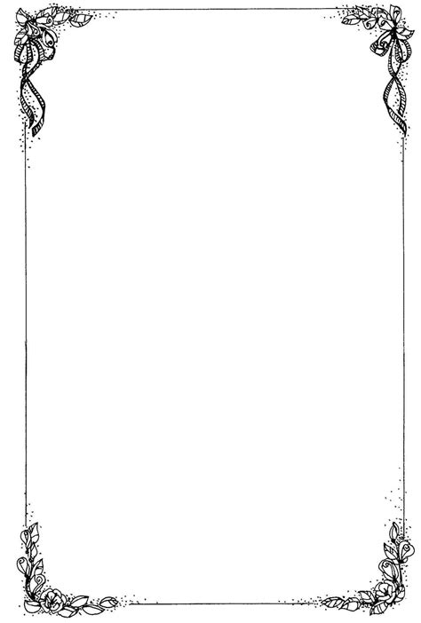 Black And White Border Cards Template by Frame Design For Microsoft Word Www Pixshark