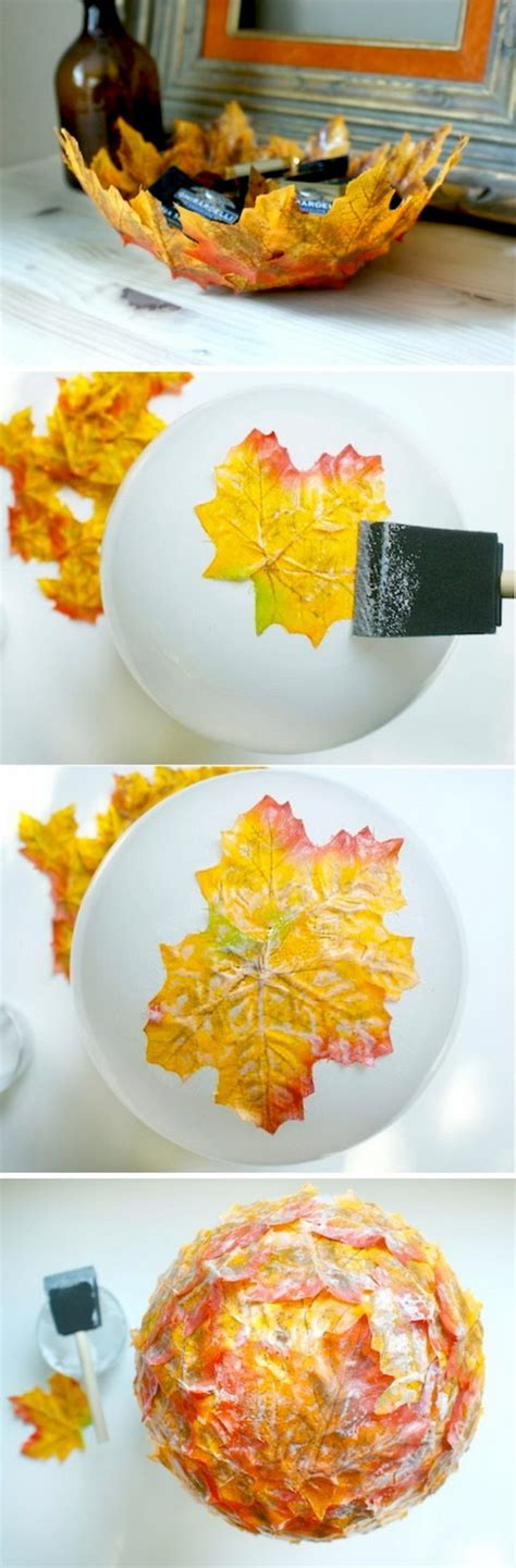 30 cool ways to use autumn leaves for fall home d 233 cor 30 cool fall projects for a festive home