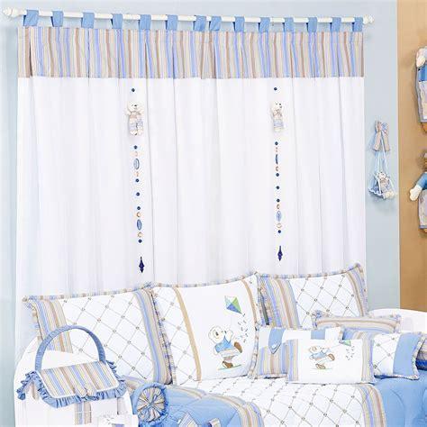 cortina de bebe cortina para quarto azul e branco yazzic obtenha