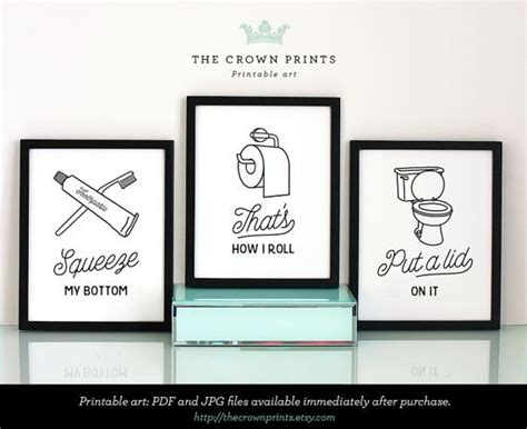 bathroom art printables 1000 ideas about bathroom printable on pinterest