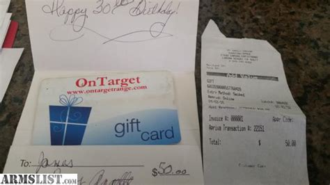 The Range Gift Card - armslist for sale shooting range gift card