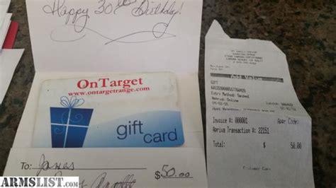 Gun Range Gift Card - armslist for sale shooting range gift card