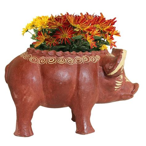 Pig Planter by Rustic Planters Collection Pig Planter Cbp011