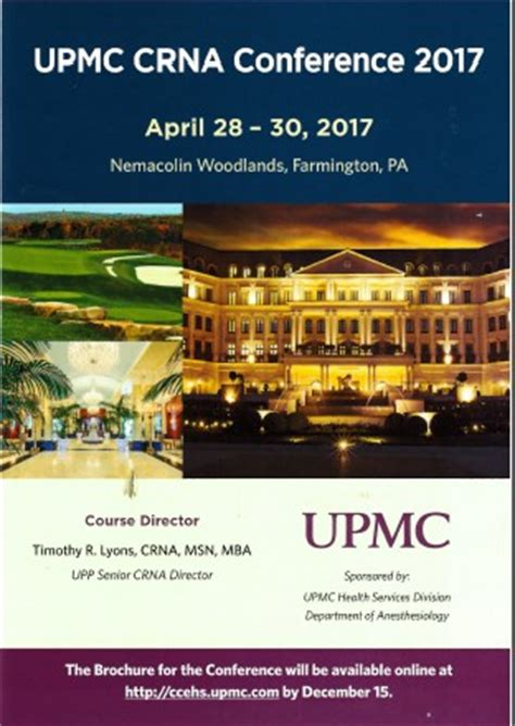 Diversity Mba 2017 Conference by Upmc Crna Conference 2017 Department Of Anesthesiology