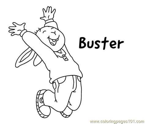 buster coloring coloring page  arthur coloring