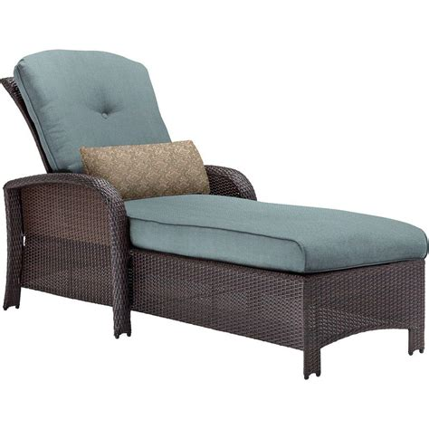all weather wicker chaise lounge hanover strathmere all weather wicker patio chaise lounge