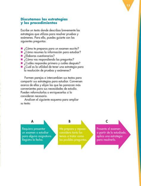 libro 2 textos y estrategias libro de texto espanol 6to grado primaria 2014