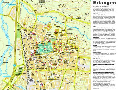 map of erlangen germany erlangen sightseeing map