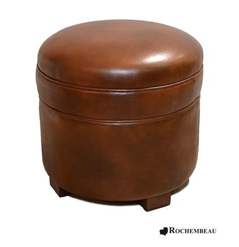 Leather Footstool Leather Footstool Top Grain Leather Footstools