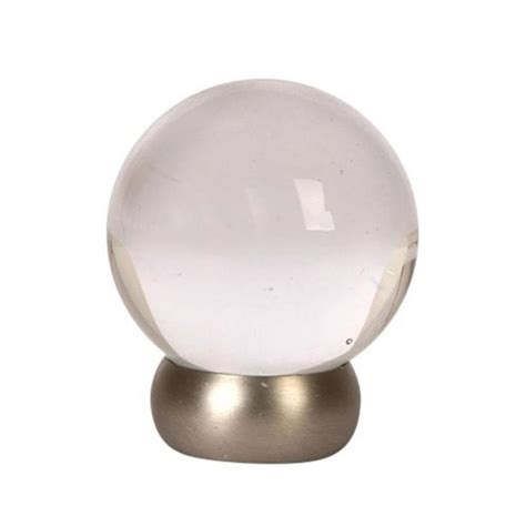 shop lew s hardware 1 1 8 in brushed nickel glass ball