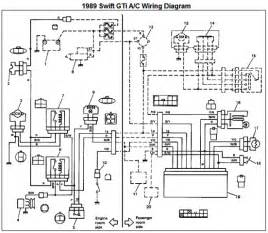 1989 suzuki gti air conditioner wiring diagram and electrical schematic