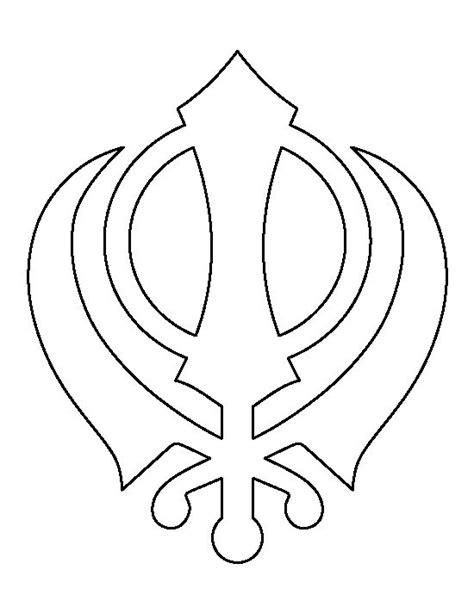 symbol templates khanda pattern use the printable outline for crafts