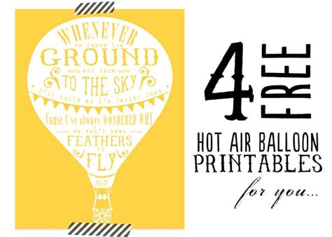 funny quotes about hot air balloons four free hot air balloon printables quotes