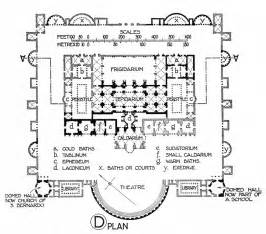 plan of the baths of diocletian illustration ancient