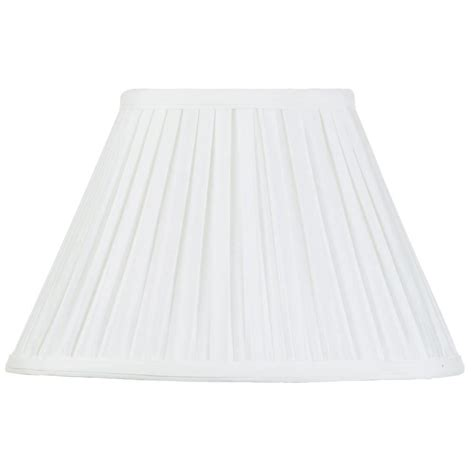 12 inch l shade 12 inch easy to fit box pleat shade ivory from litecraft