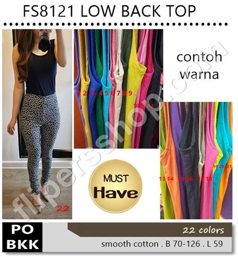 Top Atasan Hongkong Ready Premium Quality low back top supplier baju bangkok korea dan hongkong