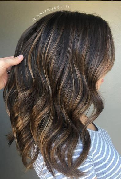 balayage dark brown hair with blonde highlights brunette balayage blend mane interest balayage