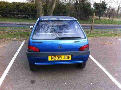 blue peugeot for sale peugeot 1995 106 aztec blue car for sale