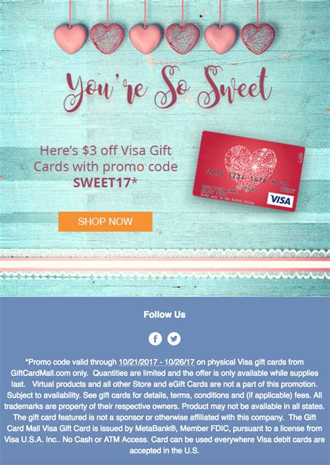 Visa Gift Card Promo Code - expired giftcardmall 3 off visa gift cards 1 back with portal 10 21 10 26