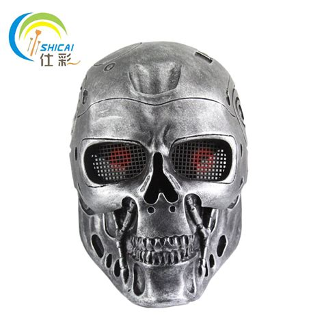 new skull paintball gun mask high grade vire mesh