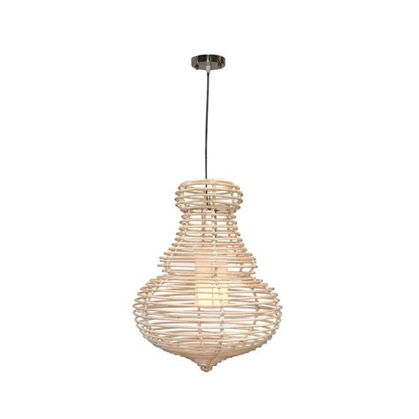 Rattan Pendant Light Jeffan 1 Light Modern Chic Hanging Pendant In Antique White Wash Rattan Rattan Lm 2277a