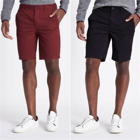 Black Slim Fit Chino black slim fit chino shorts multipack smart shorts