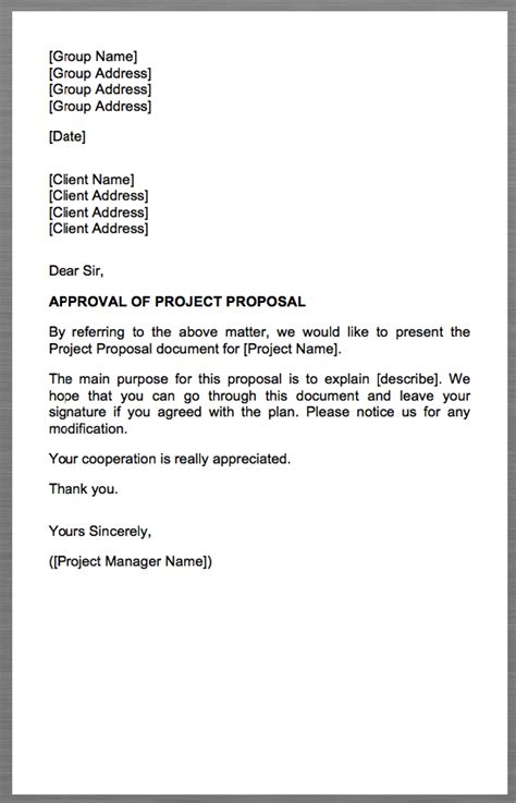 brilliant ideas of beautiful cover letter for a project proposal 56