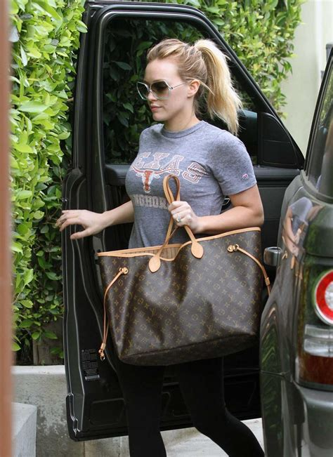 Other Designers Hilary Duff With Designer Travel Bags by Louis Vuitton Vs Goyard Tote Showdown Pursebop