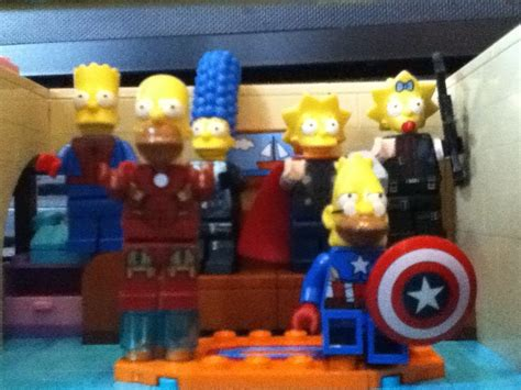 lego simpsons couch lego simpson couch gag 3 avengers youtube