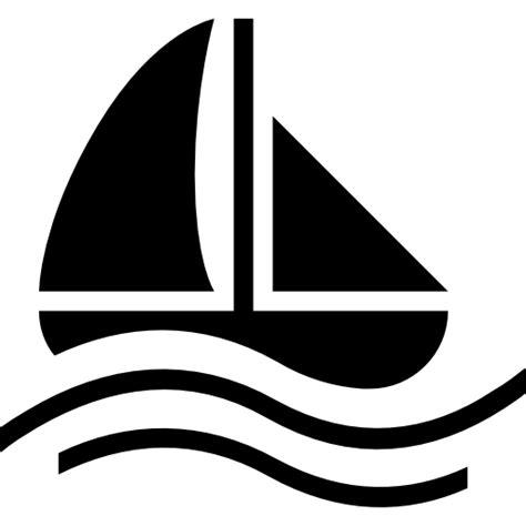 boat icon white sailing boat black symbol free transport icons