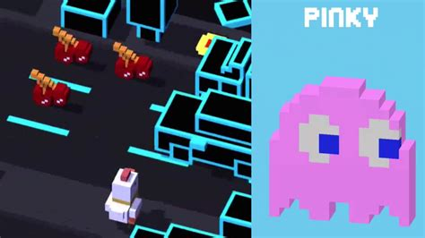 how do u get the new mystery character in cross road on the new update crossy road unlock pinky new secret character pac man