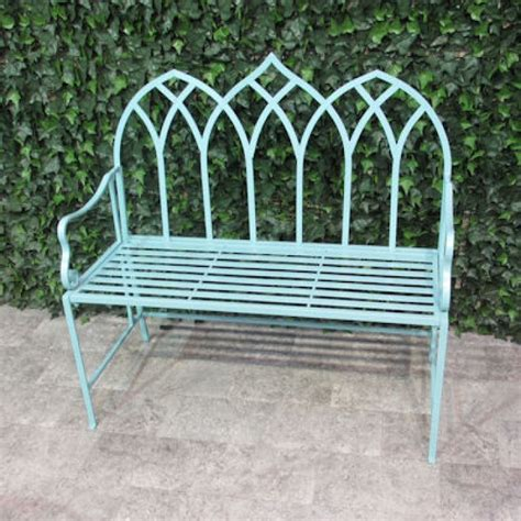 green metal garden bench buy ascalon gothic metal garden bench