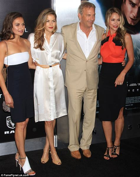 what does dillen dryers husband look like kevin costner brings his wife and two daughters to man of