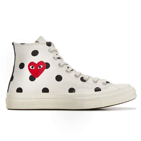play converse polka dot chuck all 70 high white