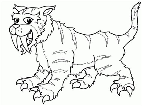 Saber Tooth Tiger Coloring Pages saber tooth tiger coloring pages coloring home