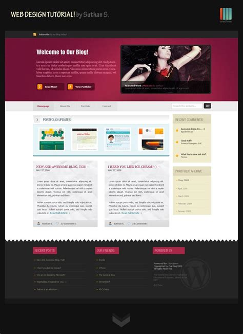 tutorial web design xp fresh exles of web 2 0 design and interfaces