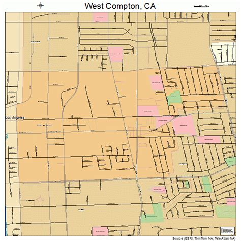 map of compton california west compton california map 0684186