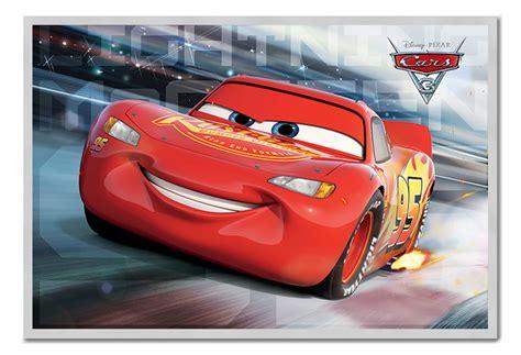 jadwal film cars 3 framed cars 3 lightning mcqueen race poster new ebay