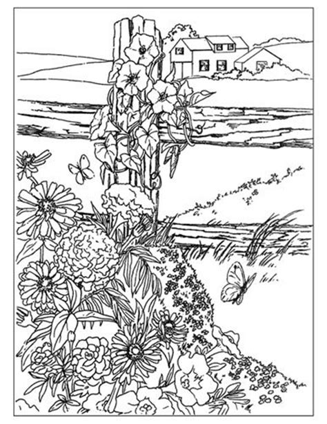 coloring books country cottage backyard gardens 2 40 grayscale coloring pages of country cottages cottages gardens flowers and more books coloring pages coloring and country on