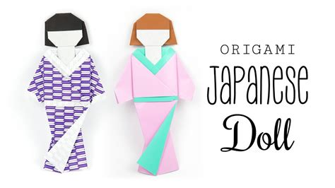 How To Make Origami Doll - origami japanese doll tutorial diy paper kawaii