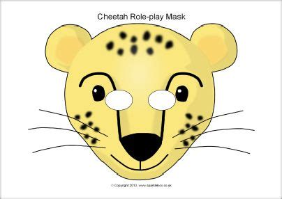 this website has tons of free printable masks cheetah role