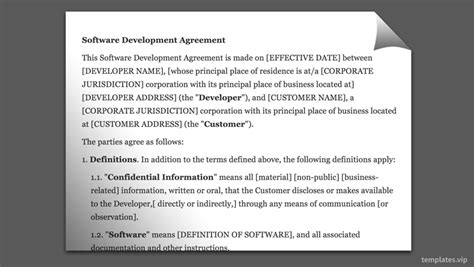 Best Work For Hire Agreement Templates Templates Vip Software Developer Contract Template