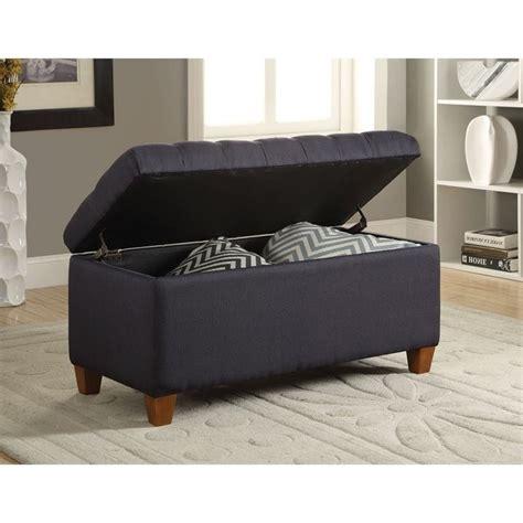 coaster storage bench coaster tufted storage bench in dark navy 500066